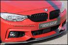 ลิ้นหน้าคาร์บอน BMW F32 F33 F36 ทรง Rieger สำหรับกันชน M Sport