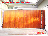 2,ประตูสแตนเลส,ประตูสแตนเลสผสมไม้