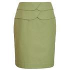 กระโปรงแฟชั่น กระโปรงทำงาน Two Round Belt Skirt กระโปรงสีเขียว {งานตัดเย็บคุณภาพ}