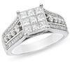 แหวนเพชร princess cut  0. 45( 9) , 0.40 (8) , 0.96 (48) ทอง90%