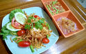 NO. SS22 ส้มตำทอด (Fried Papaya salad with shrimp)
