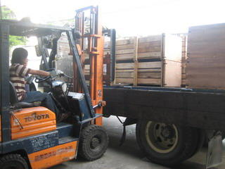 SPS products loaded to port