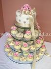 คัพเค้ก Basic Wedding Cupcake 3 ชั้น