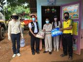 มอบถุงยังชีพช่วยเหลือเบื้องต้น ณ บ้านหนองเต่า หมู่ที่ 15