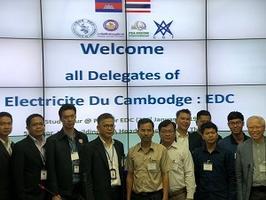 PEA ENCOM นำคณะวิศวกรจากการไฟฟ้าราชอาณาจักรกัมพูชา(Electricite du Cambodge (EDC)) เข้าเยี่ยมชมศึกษาดูงานหัวข้อ Study tour at PEA for EDC ณ การไฟฟ้าส่วนภูมิภาค
