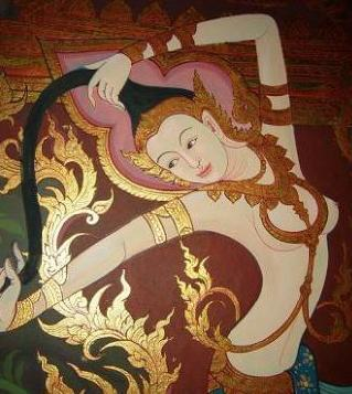 รับวาดภาพลายไทย