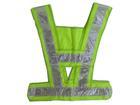 เสื้อกั๊กผ้าสีเขียว - แถบสีเทา (รหัส TV08-GR)