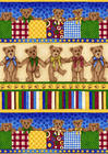 ผ้าอเมริกานำเข้าลาย Boy Bears ขนาด 1 block (60 x 110cm)