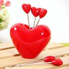 ชุดส้อมจิ้มผลไม้รูปหัวใจ