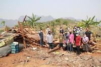ลงพื้นที่สำรวจและให้ความช่วยเหลือผู้ประสบเหตุสาธารณภัย(วาตภัย) ชุมชนบ้านปางตอง 2563