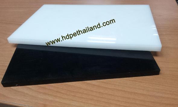 HDPE(PE300) แผ่น สีขาว/ดำ