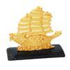 เรือมังกรเล็กทองติดฐานเหลี่ยมดำเล็ก 3.5