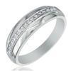 แหวนเพชรกษรแถวเดี่ยว ทอง 90% เพชร 0.30 กะรัต (15 เม็ด)