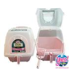 ห้องน้ำแมว สีชมพู ยี่ห้อ Dr.LEE กว้าง 15.5 นิ้ว ยาว 19 นิ้ว สูง 16 นิ้ว