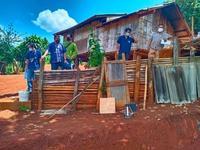 ตรวจงานโครงการก่อสร้างอาคารอเนกประสงค์ ณ บ้านปางตองใน