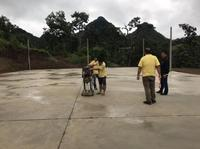 ตรวจรับพัสดุ เข้าตรวจงานโครงการก่อสร้างลานกีฬาคอนกรีตอเนกประสงค์ บ้านหนองเต่า หมู่ที่ 15