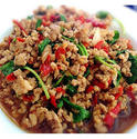 NO. SF29 ผัดกะเพราหมูสับ (Stir fried spicy with minced pork and Basil)
