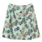 กระโปรงแฟชั่น กระโปรงบาน Botton Point Flare Skirt ผ้าญี่ปุ่นพิมพ์ลายดอกไม้กราฟฟิก