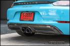 718 Porsche OE Carbon Fiber Rear Diffuser Cover