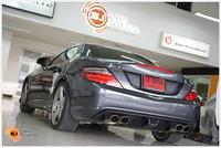 Benz slk เข้ามาเพิ่มมุมมองตอนถอยจอดด้วยการเพิ่มกล้องมองหลังโดยต่อเข้าสู่จอเดิม