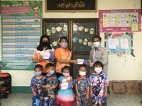 ลงพื้นที่แจกหน้ากากอนามัย ให้กับศูนย์พัฒนาเด็กเล็กเทศบาลตำบลปิงโค้ง