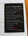 ป้ายบอกกฎระเบียบการใช้สระว่ายน้ำ พิมพ์ UV LED printing