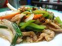 NO. SF25  ผัดพริกหยวกหมู (Stir Fried sweet pepper with pork)