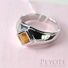 พีโยเต้ แหวนเงินแท้ 925 ชุปโรเดียม ประดับพลอยแท้