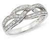 แหวนเพชรแฟนซีไชว้ เพชร 0.50 กะรัต 50 เม็ด / ทองขาว