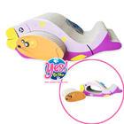 ที่ลับเล็บแมว ของเล่นแมว รูปปลาถอดตัวหนูออกมาได้ แถม Catnip