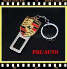 หัวเข็มขัดนิรภัยกันเสียงเตือน สำหรับ ผู้ที่รำคาญเสียงสัญญาณเตือน porsche metal seat belt buckle alarm stopper key chain