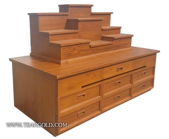 โต๊ะหมู่บูชาไม้สัก ลิ้นชัก_003