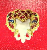 หัวช้างทองคำลงยา(ทำจากงาช้าง)