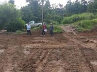 ตรวจความคืบหน้าการดำเนินโครงการก่อสร้างลานกีฬาอเนกประสงค์ บ้านหนองเต่า
