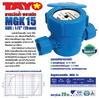 """มิเตอร์น้ำ PVC TAYO (ระบบเฟือง 1 ชั้น) ขนาด 1/2"""" (15mm)"""