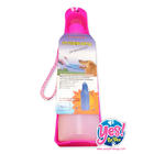 กระบอกน้ำ พกพา สำหรับสุนัข แมว ไซส์ M สีชมพู 500 ml