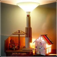 DIY โคมไฟส่องผนัง