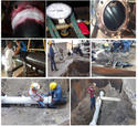 Fabrication,Wrapping,Installation and Repair HDPE Pipe Leaked
