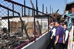 ช่วยเหลือผู้ประสบอัคคีภัย ชุมชน ต.บางครุ จากกรณีเกิดเหตุเพลิงไหม้ บริเวณบ้านเรือนหลังวัดครุใน ชุมชนหมู่๑๒ ต.บางครุ