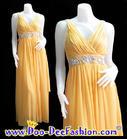 แฟชั่นชุดราตรี ชุดราตรี ชุดราตรียาว สีเหลือง แต่งเพชรคุณภาพดีใต้อก สวยงามมากๆ ค่ะ