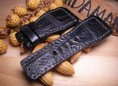Strap For Bell & Ross.Croco Black Color