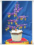 ต้นไม้มงคลประดิษฐ์ จากลูกปัดคริสตัล (อะครีลิค)สีม่