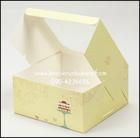 *แบ่งขาย2ใบ*กล่อง2ปอนด์สีเหลืองลายเค้ก กระดาษฟู้ดส์เกรด สัมผัสอาหารได้ไม่เป็นอันตราย