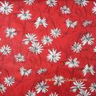 ผ้าคอตตอนญี่ปุ่น Yuwa ขนาด 1/4 หลา SZ826012-A สีแดง