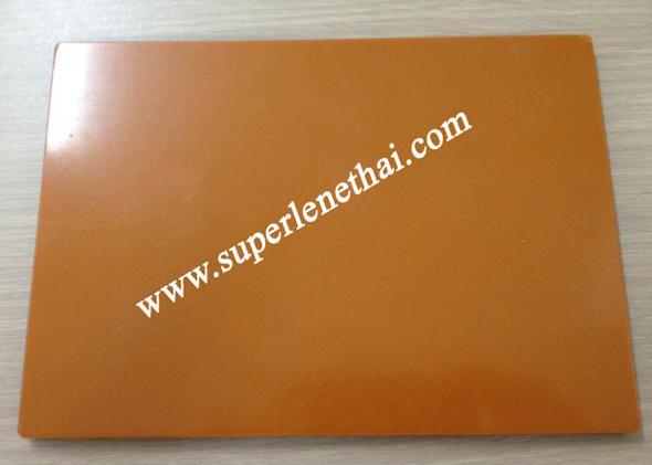 Bakelite (Phenolic Laminates) แผ่น ลายกระดาษสีส้ม