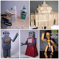 DIY หุ่นยนต์ไม้ไอติม