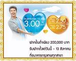 ธนาคารกรุงเทพมอบทางเลือกในการออมเงินด้วยบัญชีเงินฝากประจำ 4 เดือน 10 เดือน และ 15 เดือน