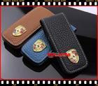 ซองกุญแจหนังแท้สำหรับ Porsche Cayman, Boxster, Cayanne, 911, Panamera, Macan หนังแท้ สีน้ำตาล