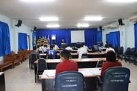 ประชุมกำนันผู้ใหญ่บ้าน ผู้นำชุมชน ประจำเดือน พฤษภาคม 2563