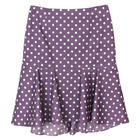 กระโปรงแฟชั่น กระโปรงทำงาน Dot Print Hi Lo Tulip Skirt ผ้าคอตต้อนญี่ปุ่นสีม่วง Polka Dot Purple